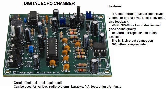 mk182 kits by velleman & elenco (do it yourself electronic project 280001 mk echo wiring diagram at gsmportal.co
