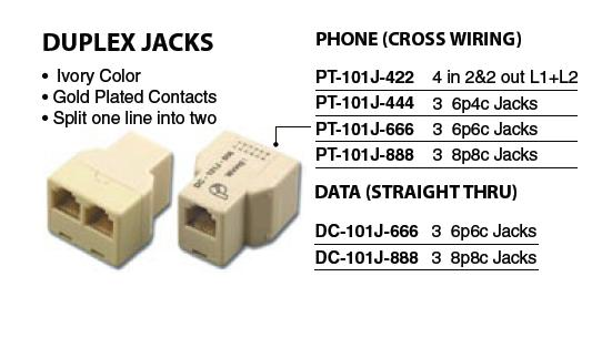 old style phone jack wiring rj14 phone jack wiring telephone connectors amp adapters 02300 02