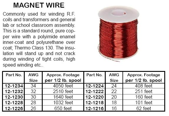 Wire 18 26 awg 25ft 100ft mini spools and magnetic wire 270001 101 ft 18 awg magnet wire commonly used in coils keyboard keysfo Images