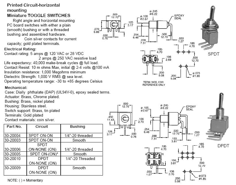 Switches - Toggle - 22300-22