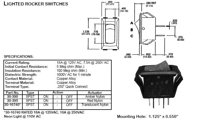 Switches - Lighted and Illumunated - 22500-22