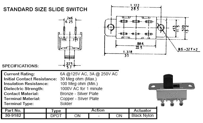 Spdt Switch Wiring Diagram : Spdt slide switch wiring diagram somurich