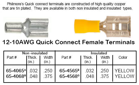 NYLON INSULATED PIGGYBACK DISCONNECT 12-10AWG TIN PLATED BRASS NTE 76-NIPD12