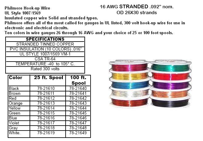 Wire 18 26 awg 25ft 100ft mini spools and magnetic wire 27000 27 black 25 ft 16 awg stranded wire keyboard keysfo Gallery