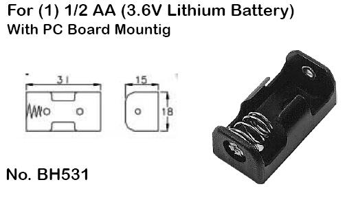 phibh531 battery holders and accessories 23500 23