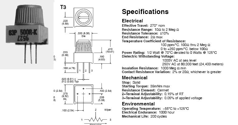 03100-03  Potentiometer Wiring Diagram For on