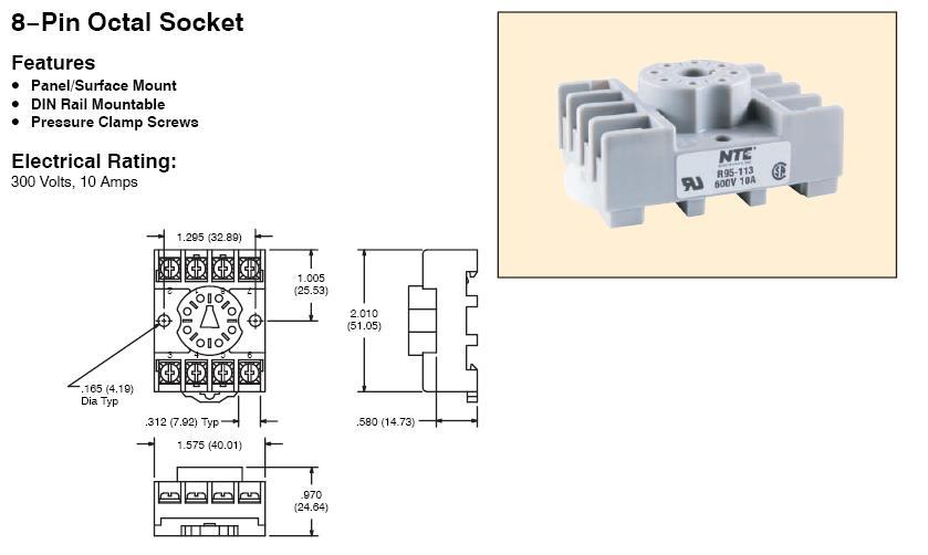 1200010  Pin Relay Socket Wiring Diagram on 8 pin connector wiring diagram, 8 pin relay pinout, 8 pin relay base schematic, 5 pin relay wiring diagram, 8 pin timer relay wiring,