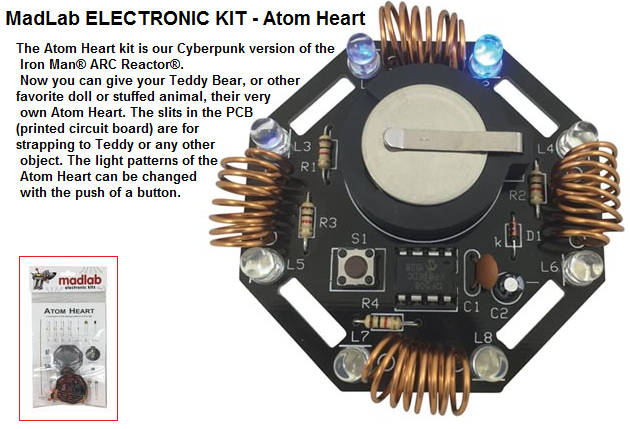 Kits by philmore datak do it yourself electronic projects 28500 28 atom heart electronic kit solutioingenieria Image collections