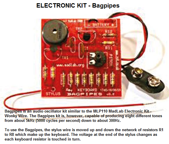 Kits by philmore datak do it yourself electronic projects 28500 28 bagpipes electronic kit solutioingenieria Gallery